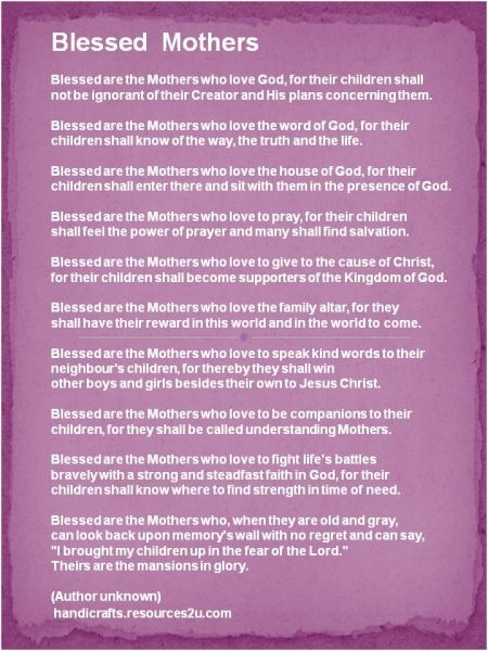 Mothers Day Poem For Christian  Mothers Day Christian Poems  MothersDayPoem On HubPages                                                                                                                             More