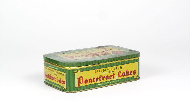 Vintage Dunhills Original Pontefract Cakes Tin