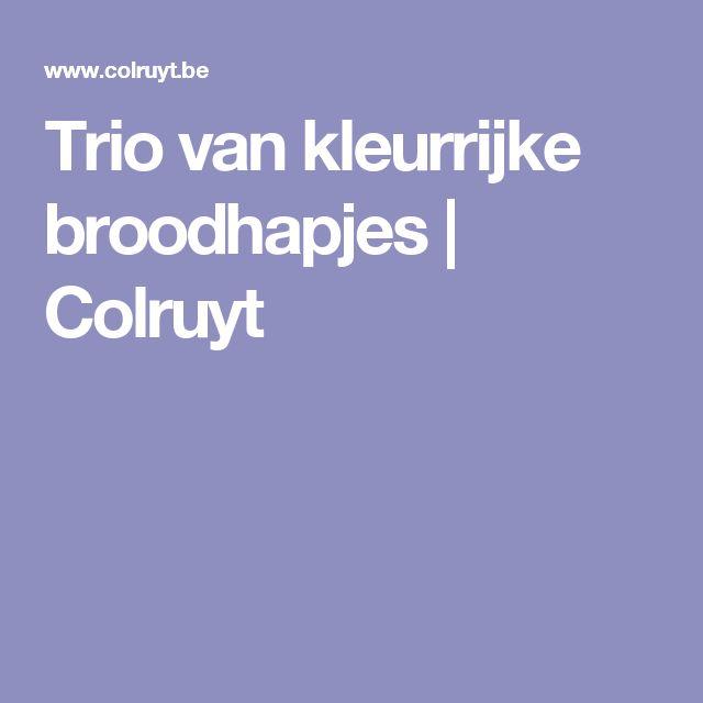 Trio van kleurrijke broodhapjes | Colruyt