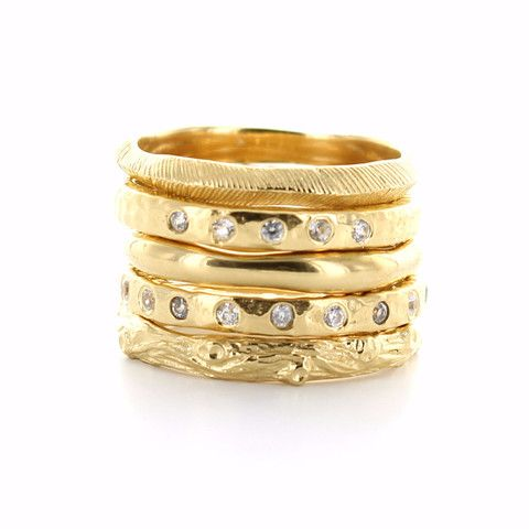 BRAVE | ENDEAR | POISE | LOVE | ADORE STACK RINGS & PENDANTS GOLD – So Pretty Cara Cotter