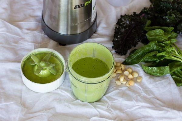 Garden Green BlitzPro Smoothie INGREDIENTSHandful of fresh spinach leavesHandful of fresh kale leaves¼ avocado1 ½ cups of water2 scoops of yogurtHandful of macadamia nutsDIRECTIONSAdd the ingredients to the 350ml blending cupSecurely attach the blending blade to the top of the cupAlign the cup onto the BlitzPro base unit and turn the cup clockwise to blendBlend for 20 seconds or...