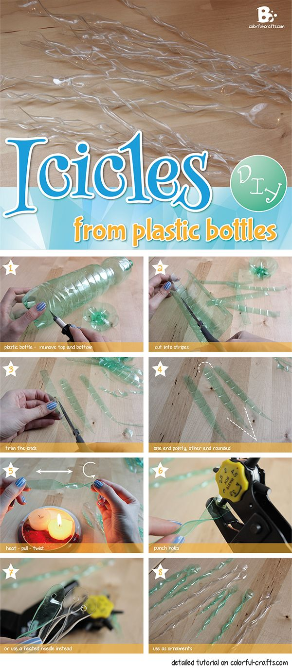 #DIY: Icicles from plastic bottles                                                                                                                                                                                 More