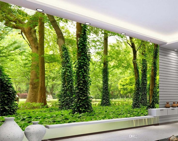 Luxury European Modern HD forest landscape wall mural 3d wallpaper 3d wall papers for tv backdrop