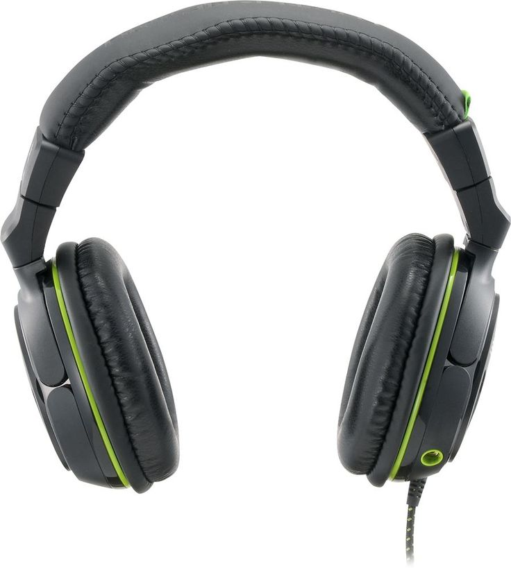 Turtle Beach - Refurbished Ear Force XO Seven Gaming Headset for Xbox One - Black/Green, TBS-2225-01R