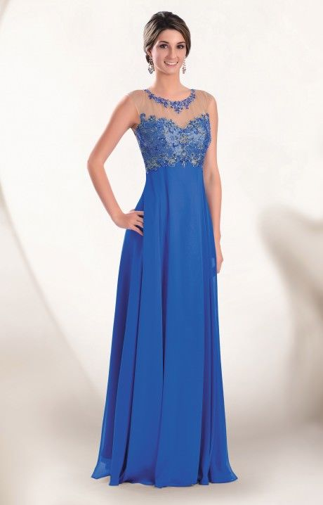 Beautiful in blue! Whichever shade you choose, 2Cute 51132 prom dress is going to be the right look for you. The top is sheer and beaded and the back is open!