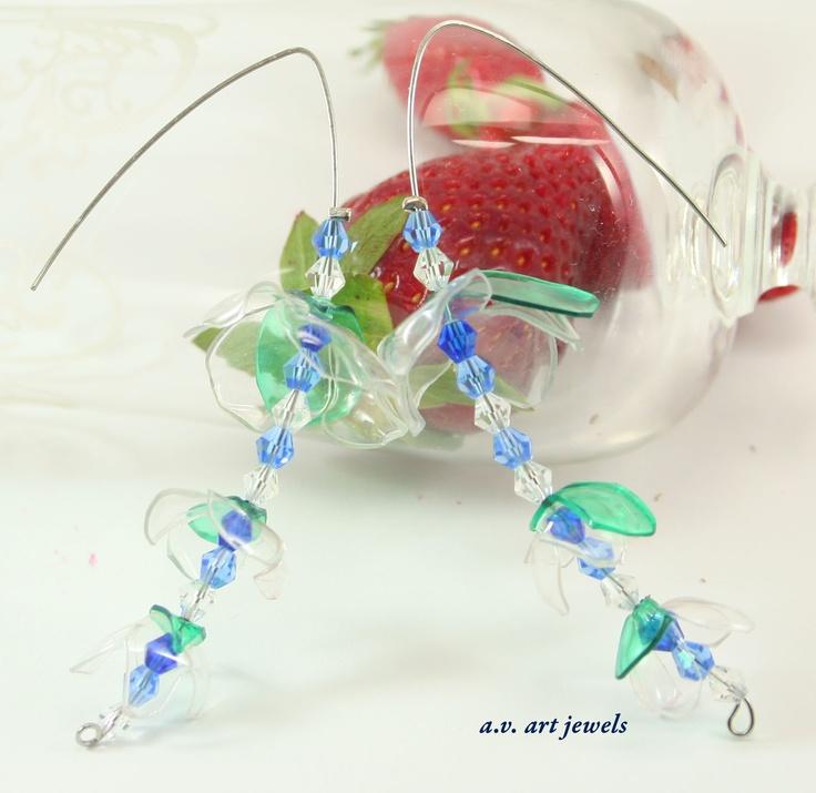 earrings pet  recycled