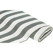 Allround-Gewebe 'Madrid Streifen grau/weiß'