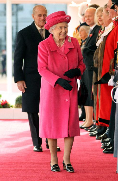 britishnobility:  Queen Elizabeth II and Prince Philip, Duke of Edinburgh attend a ceremonial welcome for visiting President of South Korea, Park Geun-Hye (not pictured) at Horse guards Parade on November 5, 2013 in London, England.