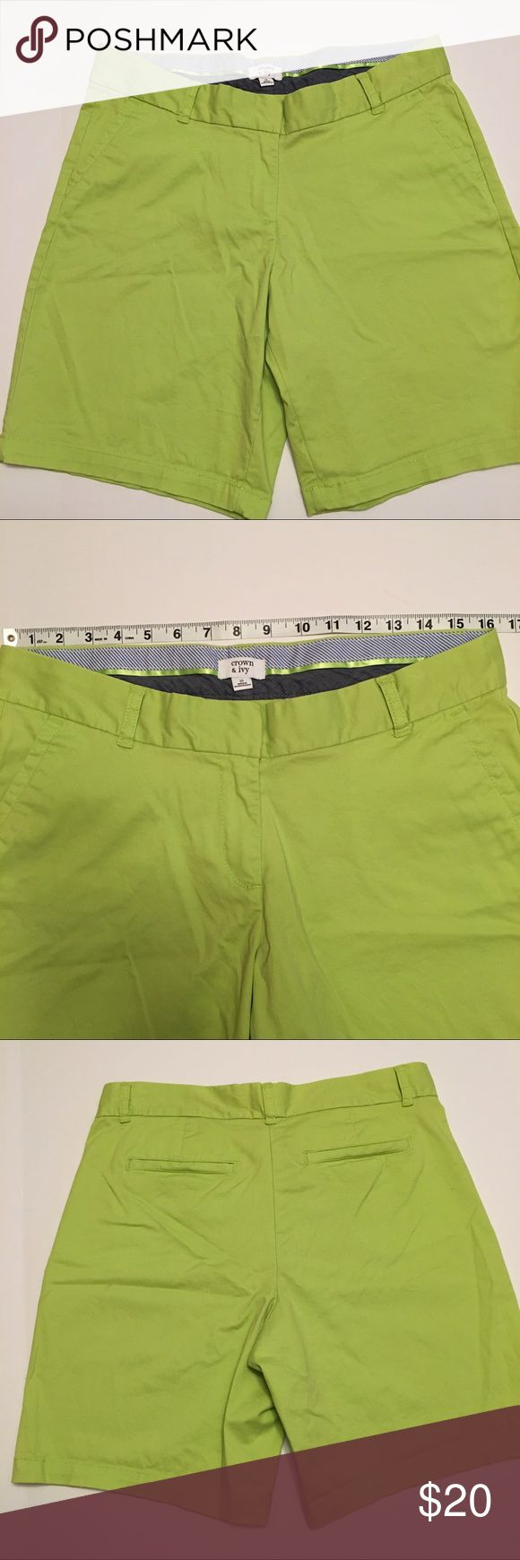 Crown & Ivy Lime Green Shorts Size 10, in good condition, color: lime green Crown & Ivy Shorts