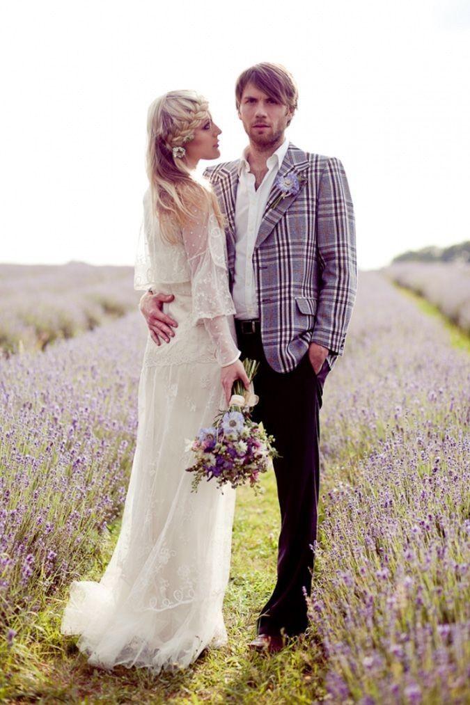 undercut hairstyle, purple flowers bouquets, lavender field wedding shoots #2014 Valentines day wedding #Summer wedding ideas www.dreamyweddingideas.com