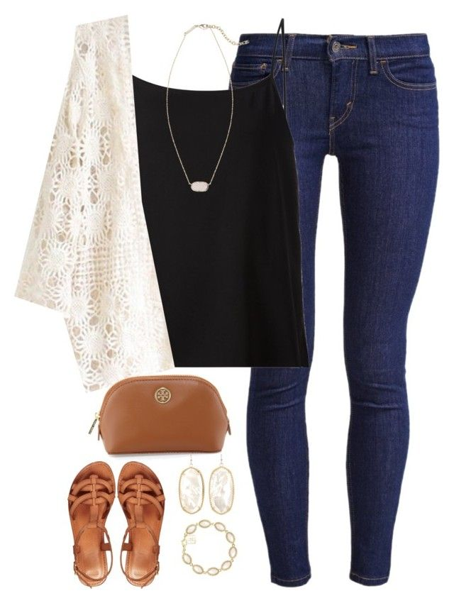 10 sets for Jude! Set 8! by kaley-ii on Polyvore featuring polyvore, fashion, style, Helmut Lang, Levi's, ASOS, Kendra Scott, Tory Burch and 10setsforjude