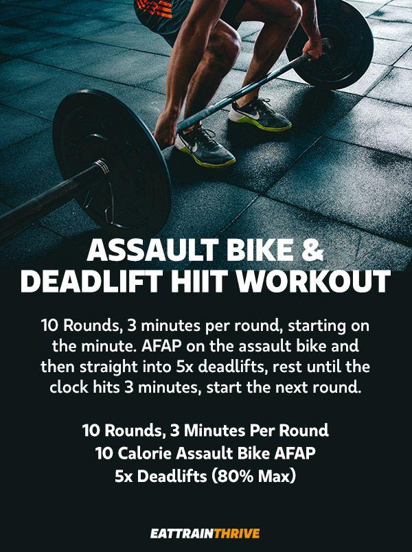 Assault Bike And Deadlift Hiit Workout Assault Bike Workout
