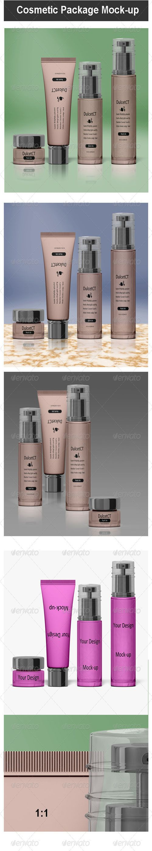 GraphicRiver - Cosmetic Package Mock-up