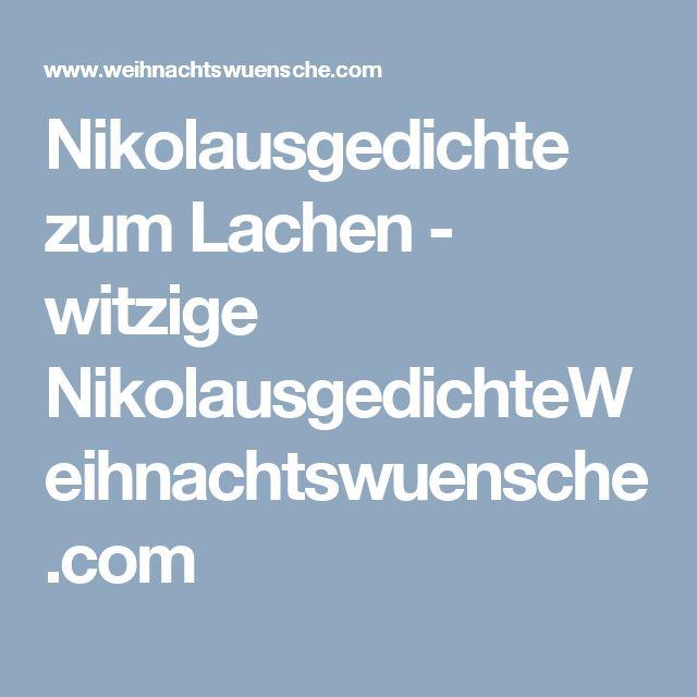 Nikolausgedichte zum Lachen - witzige NikolausgedichteWeihnachtswuensche.com