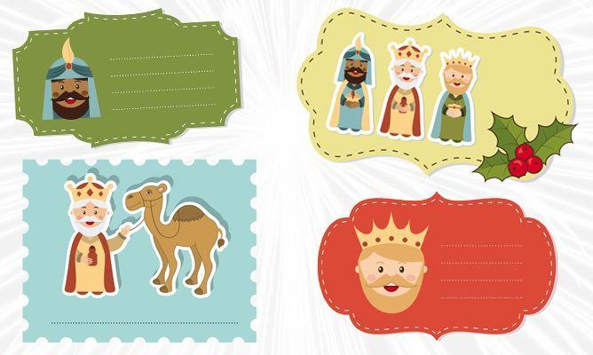 Etiquetas para regalos de los Reyes Magos