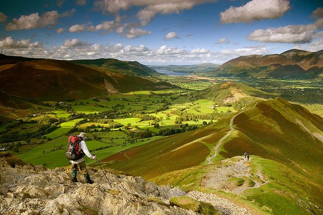 At the top of Catbells Peak, Lake District, Cumbria, UK.  |  Photo by  © Rick Harrison.