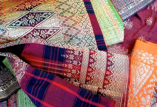 "Songket: One of the distinct features of ""songket"" is the use of glossy threads, giving an elegant shimmer to the fabric. That, and the fact that a ""songket"" can take at least four months to finish, is why the fabric can cost millions of rupiah. (Photo by Raditya Margi)"