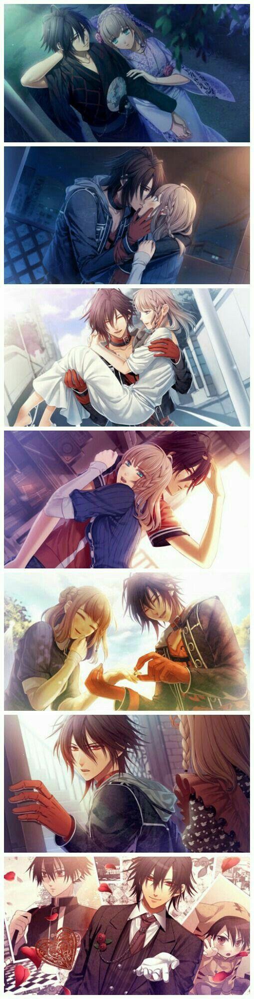 Heroine, Shin, Hugging, Smiling, Kissing, Laughing, pictures, cute; Amnesia Memories