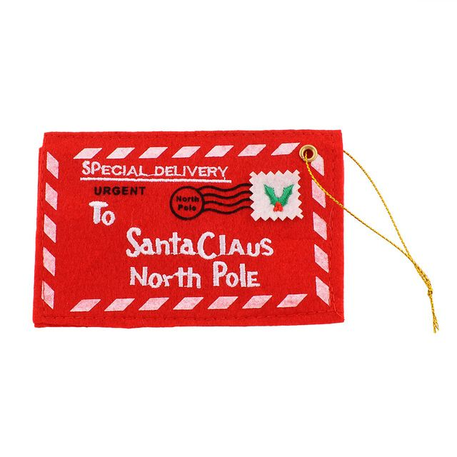 Дед мороз письмо почты красный конверт вышивкой крутящего ну вечеринку декор подарок * рождество продукции