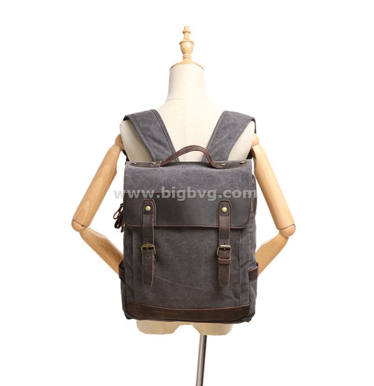 Bvg Canvas Bag Book Leather Backpack