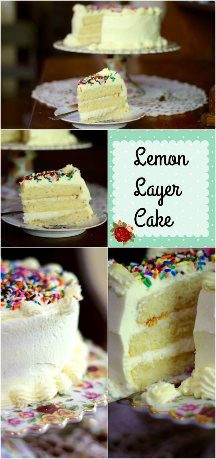 So amazing! This moist lemon layer cake is filled with white chocolate ganache and covered with a light, creamy, whipped lemon frosting. From http://RestlessChipotle.com
