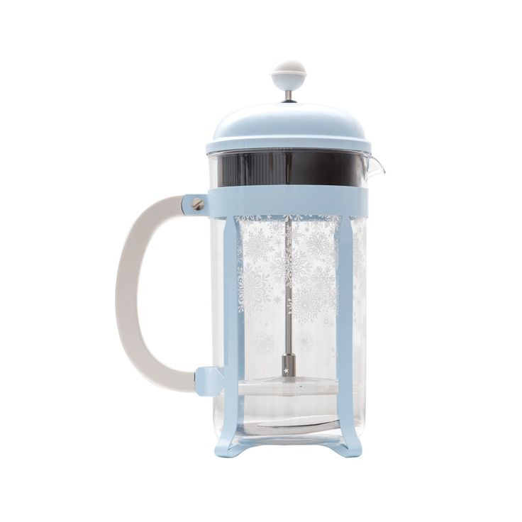Seriously blue coffee and snowflakes. Yes pleasee  8-Cup Snowflake Bodum Coffee Press | Starbucks Coffee Company