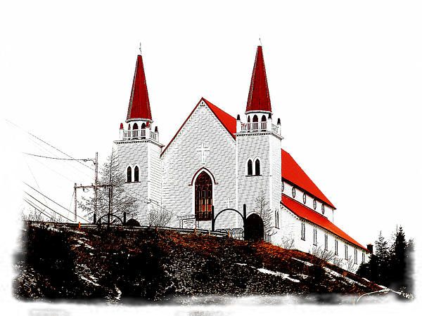 Holy Redeemer Anglican Church by Zinvolle - Holy Redeemer Anglican Church, Spaniard's Bay, Avalon Peninsula, Newfoundland, Canada.