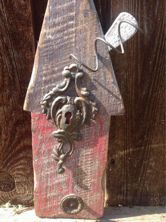 Upcylced Birdhouse Decor by cmfindsandesigns on Etsy, $14.95