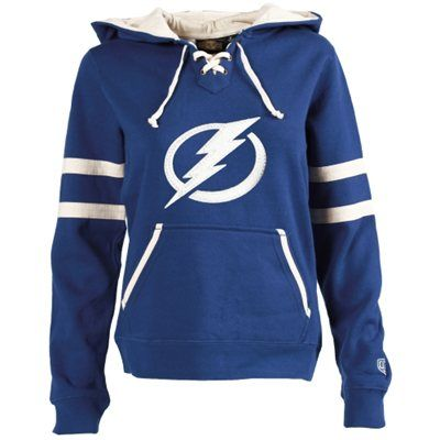 YESSSSSS    Women's Tampa Bay Lightning Old Time Hockey Royal Blue Grant Lace-Up Slim Fit Hoodie