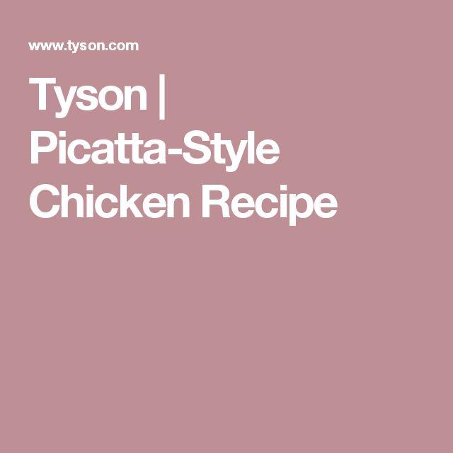 Tyson | Picatta-Style Chicken Recipe