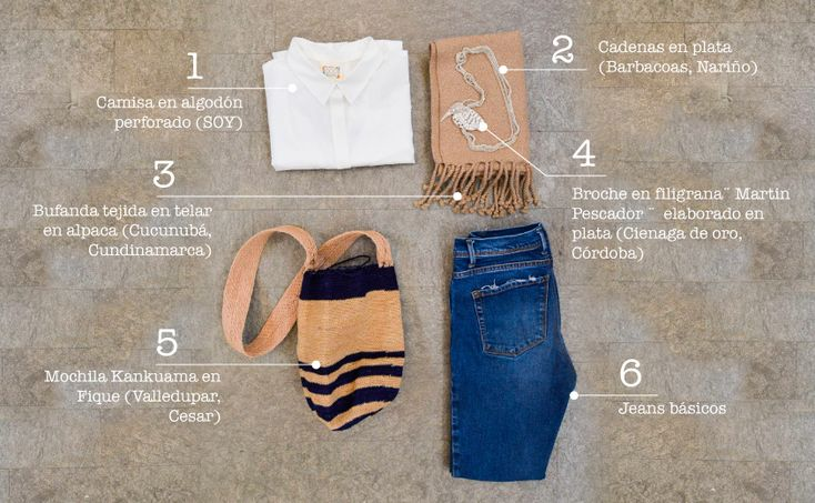 Contexto Urbano: La artesanía está asociada a la temporada de vacaciones o a contextos rurales. Sin embargo, el entorno urbano es perfectamente compatible con el lenguaje artesanal. El denim, algodón y cuero dialogan de forma eficiente con fibras como el fique, cumare y lana tejidos. Las mochilas Wayuu, Kankuamas y de cumare son una opción ideal para construir un fondo de armario con identidad.