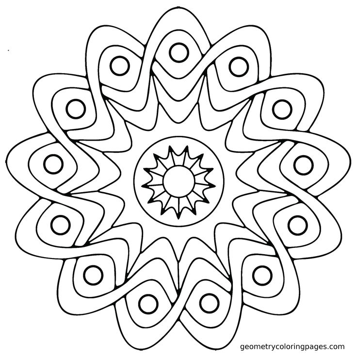 Mandala Coloring Page: Star Shield from geometrycoloringpages.com
