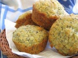 Muffins au citron et graine de pavot