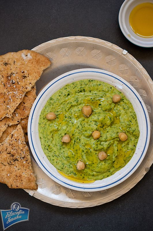 Hummus ze szpinakiem
