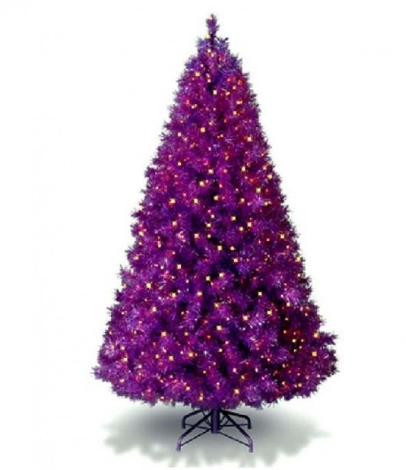 Purple And Black Christmas Tree Decorations : Images about christmas in purple on