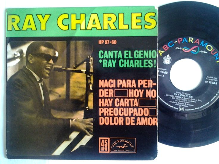 RAY CHARLES - EP VINILO. Nací para perder. (Born to lose). HISPAVOX. 1962  Born to lose - No letter today - Worried mind - I love you so mcuh in hurts. EP - Comprobado disco   (EL DUENDE VERDE en Todocolección)