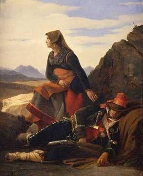 Femme de brigand veillant of artist Louis-Leopold Robert