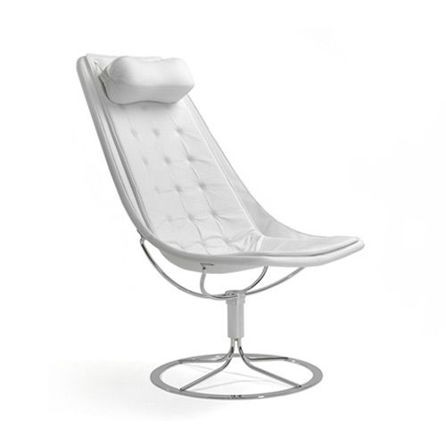 Jetson 66 Chair, White/Leather, 308