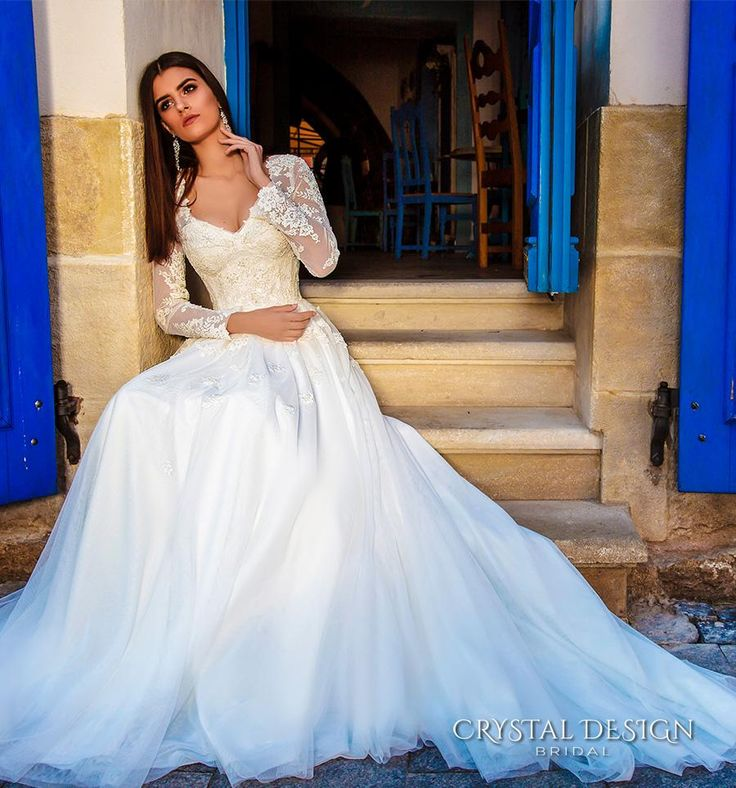 Illusion Long Sleeves Sheer Skirts Wedding Gowns 2016 Lace Bodice Corset Vintage A Line Wedding Dress Tulle Skirt Chapel Train Bridal Gowns Online with $177.29/Piece on Beautydoor's Store   DHgate.com