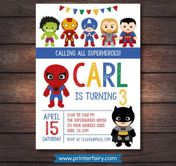 Superhero Birthday Party Superhero Party por PrinterFairy en Etsy