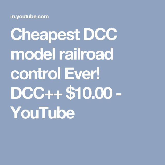 Cheapest DCC model railroad control Ever! DCC++ $10.00 - YouTube