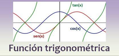 Una función trigonométrica es aquella que está asociada a una razón trigonométrica. Funciones del seno, coseno, tangente, cosecante, secante, cotangente.