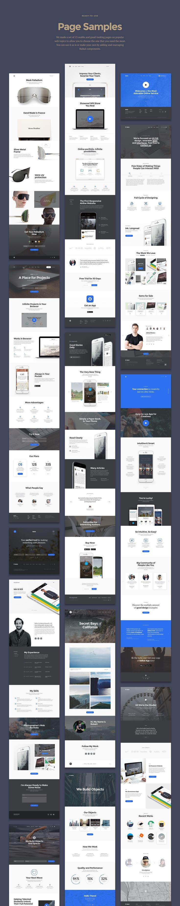 Baikal Startup UI Kit / Free Sample Inside on Behance