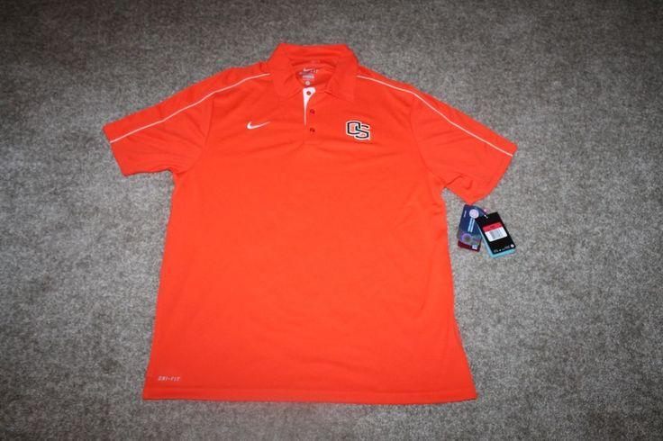 NWT Nike Mens Oregon State Beavers Orange Polo Shirt Size Large 514262-810 #Nike #OregonStateBeavers