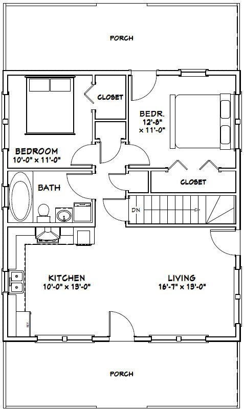 Efficiency Apartment Floor Plan Small Apartment Plan Interior Design Ideas