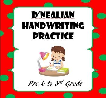 Printables D Nealian Worksheets 1000 images about dnealian handwriting practice on pinterest practicednealian includes more 500 ready to print w