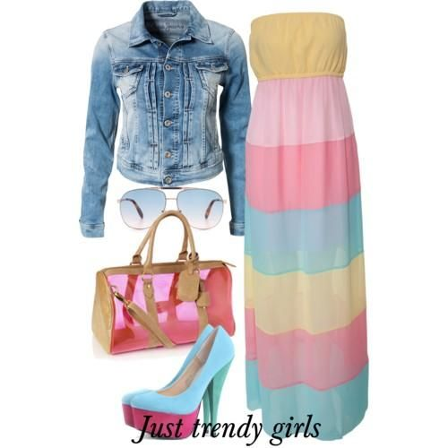 maxi dress with blazer .Summer maxi dresses with jackets http://www.justtrendygirls.com/summer-maxi-dresses-with-jackets/