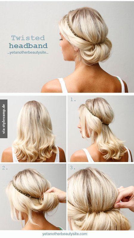 Frisuren schulterlang mit haarband