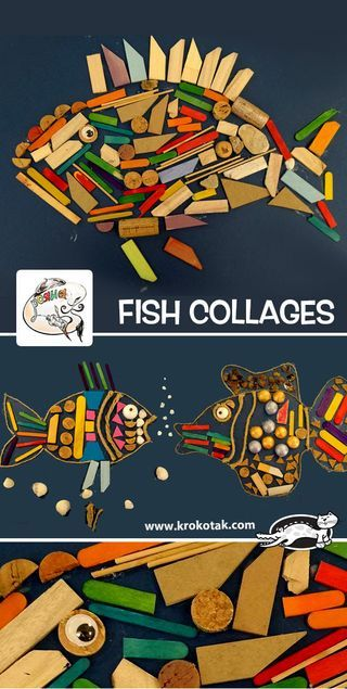 watch video: These Fish Collages have been made by children from ROYANA ART STUDIO, Sofia (Bulgaria). how to make: see more: