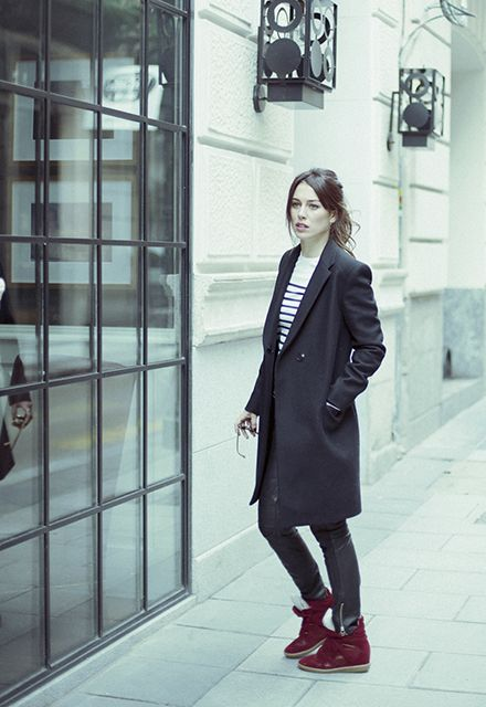 Masculine style Abrigo de Zadig&Voltaire, pantalones de cuero de Swildness